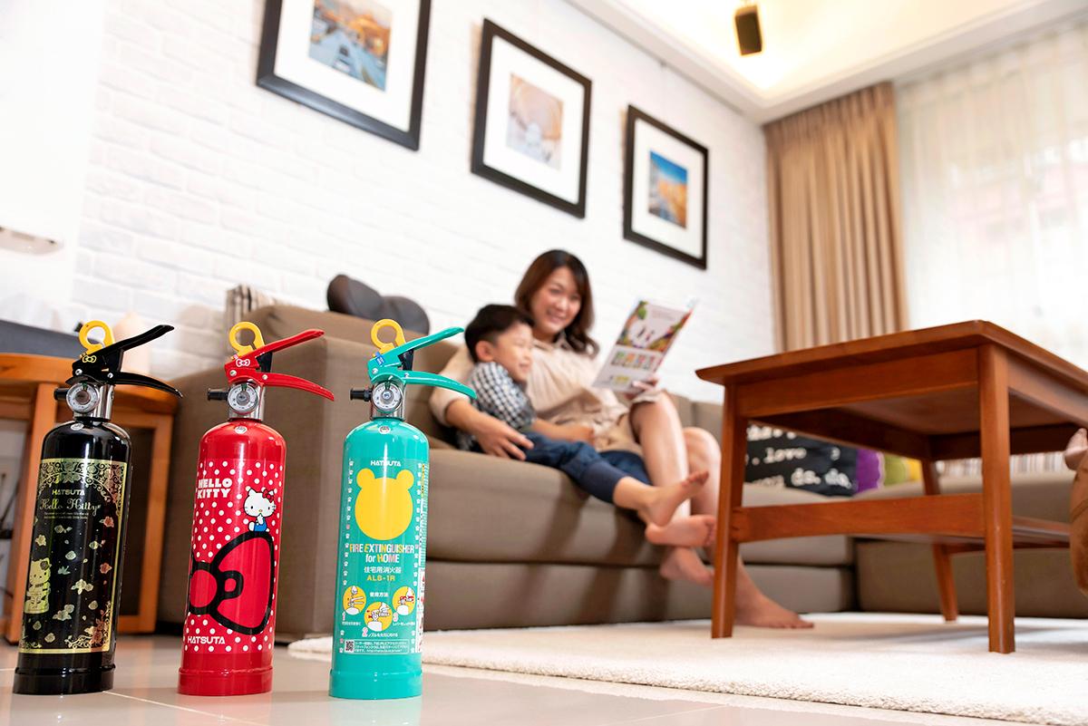 迷妹必收!滅火器變HELLO KITTY裝飾你的家,操作超簡單適用各類火災